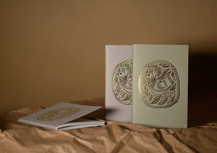 Gold printed Cards & Notebooks